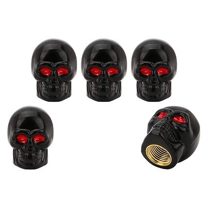 SENZEAL - 5 Tapones de válvula de neumático de Cobre para válvula ...