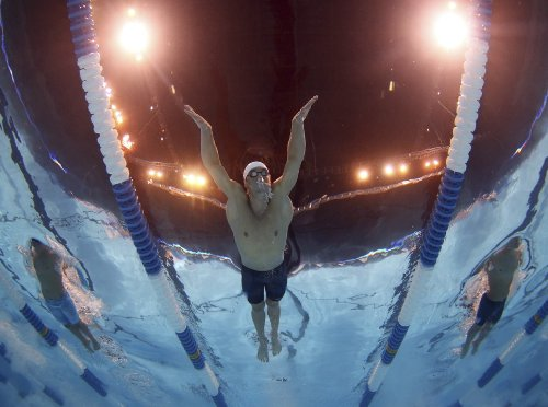 Michael Phelps 11X17 Poster Photo - Team USA Swimming Olympic #30 -