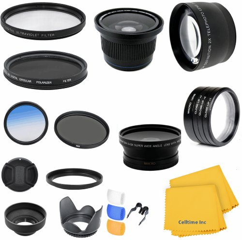 Accessory Kit for CANON PowerShot SX40 HS (SX30 SX20) IS - Includes: Lens Conversion Adapter + Professional .40x Super Wide Fisheye Lens + 0.43x Wide Angle Lens + 2x Telephoto Lens + Filter Kit (UV, CPL, ND) + Macro Close-Up Set + Blue Color Filter + Hard by We Have Any