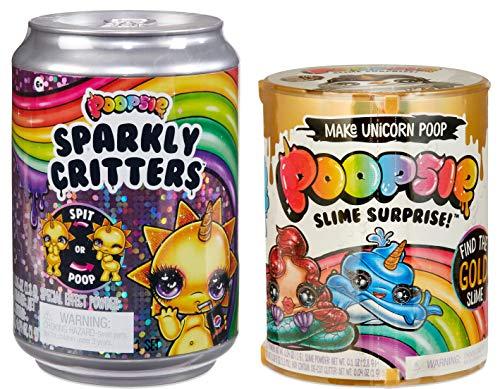 Poopsie Slime Surprise Unicorn Poop Pack Drop 2 Make Magical Unicorn Poop & Poopsie Sparkly Critters Poop or Spit