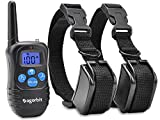Dogorbit 2 Dog Training Collar with Remote. Rechargeable and Rainproof 330 yd Dog Training Collar with Light, Beep, Vibration and Shock at an Affordable Price. For Sale
