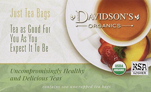 Davidson's Tea Decaf Earl Grey, 100-Count Tea Bags (Best Decaf Earl Grey Tea)