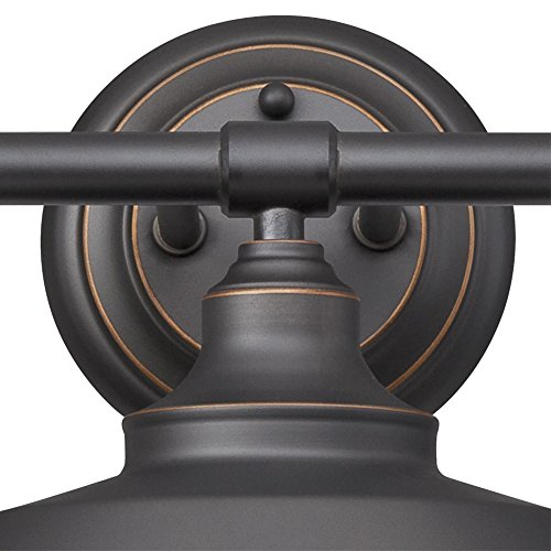 Westinghouse 6343400 Iron Hill Three-Light Indoor Wall Fixture, Oil Rubbed Bronze Finish with Highlights and Metal Shades by Westinghouse (Image #2)'