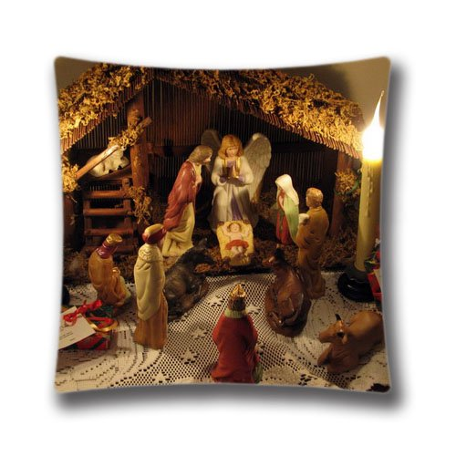 Christmas Baby Jesus Cushion Covers Pillow Cases Home Decor or Inner