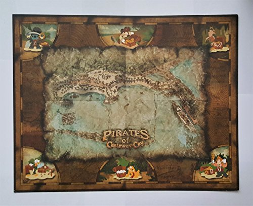 Pirates of Castaway Cay Pin Series backboard. This is to put the collection of the Castaway Cay Pins, Finding Hidden Treasure, 14