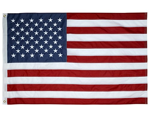 American Flag 4X6 Ft  The Strongest  Sewn Stripes  Embroidered Stars And Brass Grommets  Model 4004  4 By 6 Foot