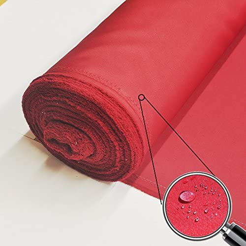 Alion Home 80 Wide PU Waterproof Polyester Fabric for Outdoor UV Protector Canvas Awning Patio Cover – Sold by Yard Burgundy Red