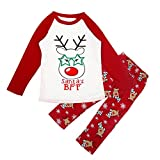Christmas Pajamas Family Sets, Toddler Kid Boys Girls Women Men Deer Sleepwear T shirt+long pants