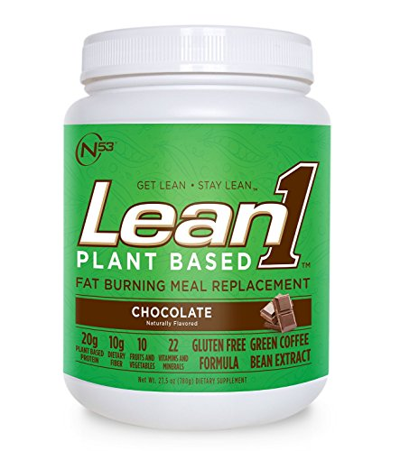 Lean 1 Plant-Based (Chocolate, 15 Servings): Fat-Burning Vegan Meal Replacement, Pea Protein Shake and Appetite Suppressant Vegan Meal Replacement