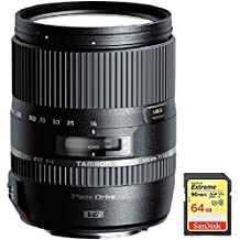 Tamron 16-300mm f/3.5-6.3 Di II VC PZD MACRO Lens for Canon EF-S Cameras with Lexar 64GB Professional 633x SDXC Class 10 UHS-I/U3 Memory Card Up to 95 Mb/s