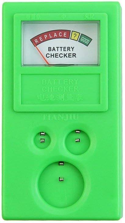 Button Cell Battery Checker Portable 1.5v 3v Button Cell Battery Checker Battery Tester Meter Tool for LR44 CR2032 CR2025 Button Cell (Green)