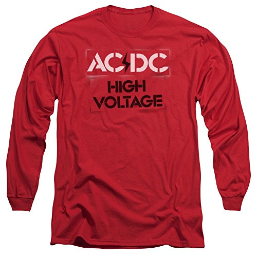 Sons of Gotham ACDC High Voltage Stencil Adult Long Sleeve T-Shirt S