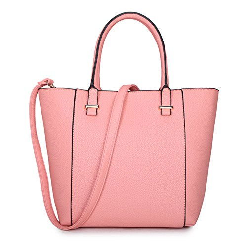 Square Zip With Strap Bag Leisure Cross Shopper Ls Body Top Simple Ladies Pu Tote Long Laptop Shoulder Lightweight Leather Pink Bags Grab Teacher nxww0X7pq6