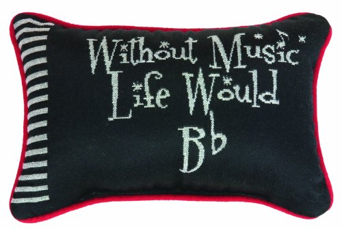 Manual Keynote Collection Take Note Word Pillow - Without Music Life Would Be Flat
