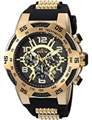 Invicta Mens Speedway Quartz Stainless Steel and Silicone Casual Watch, Color:Two Tone (Model: 24233)
