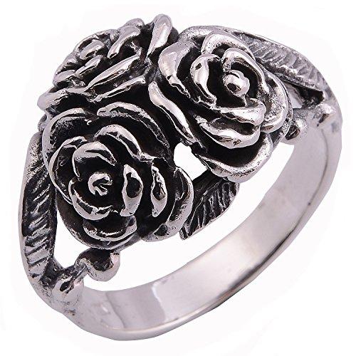 Asia Ring Rose Flower Ring 925 Sterling Silver (9)