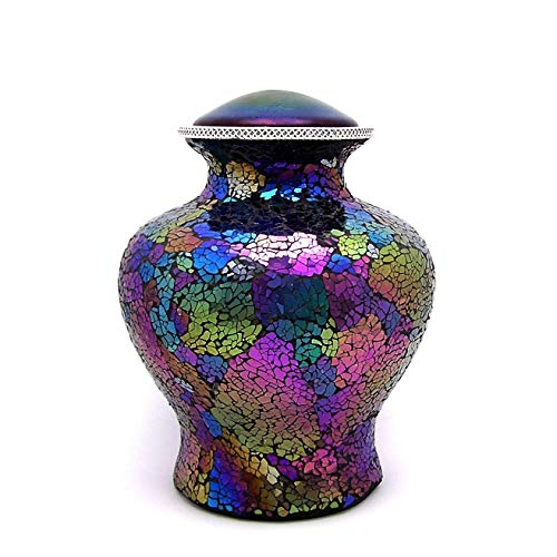 (Cremation Urn for Adult, Flat Top, Rainbow)
