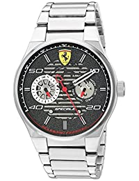 Ferrari Men's 'Speciale' Quartz Stainless Steel Casual Watch, Color:Silver-Toned (Model: 830432)