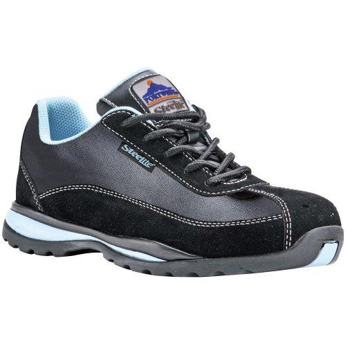 Portwest Steelite Toe Capped Lightweight Ladies Safety Work Trainer Shoe Boot Black