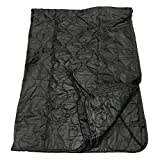 86'' BLACK G.I Style Poncho Liner Nylon Ripstop Sleeping Bag Blanket Sleeping Gear Hike Camping