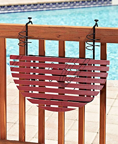 (The Lakeside Collection Folding Deck Tables - Red)