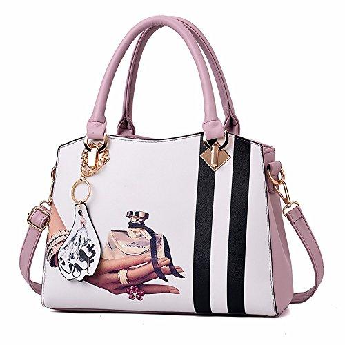 Gqfgyyl De Ladies' Lila pink Color Bolsa Hombro CwOn8CUq