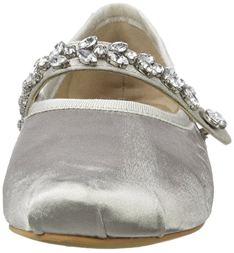 Grey Bailarinas Buffalo Satin Mujer para 6124 London 216 01 Gris wnq86g