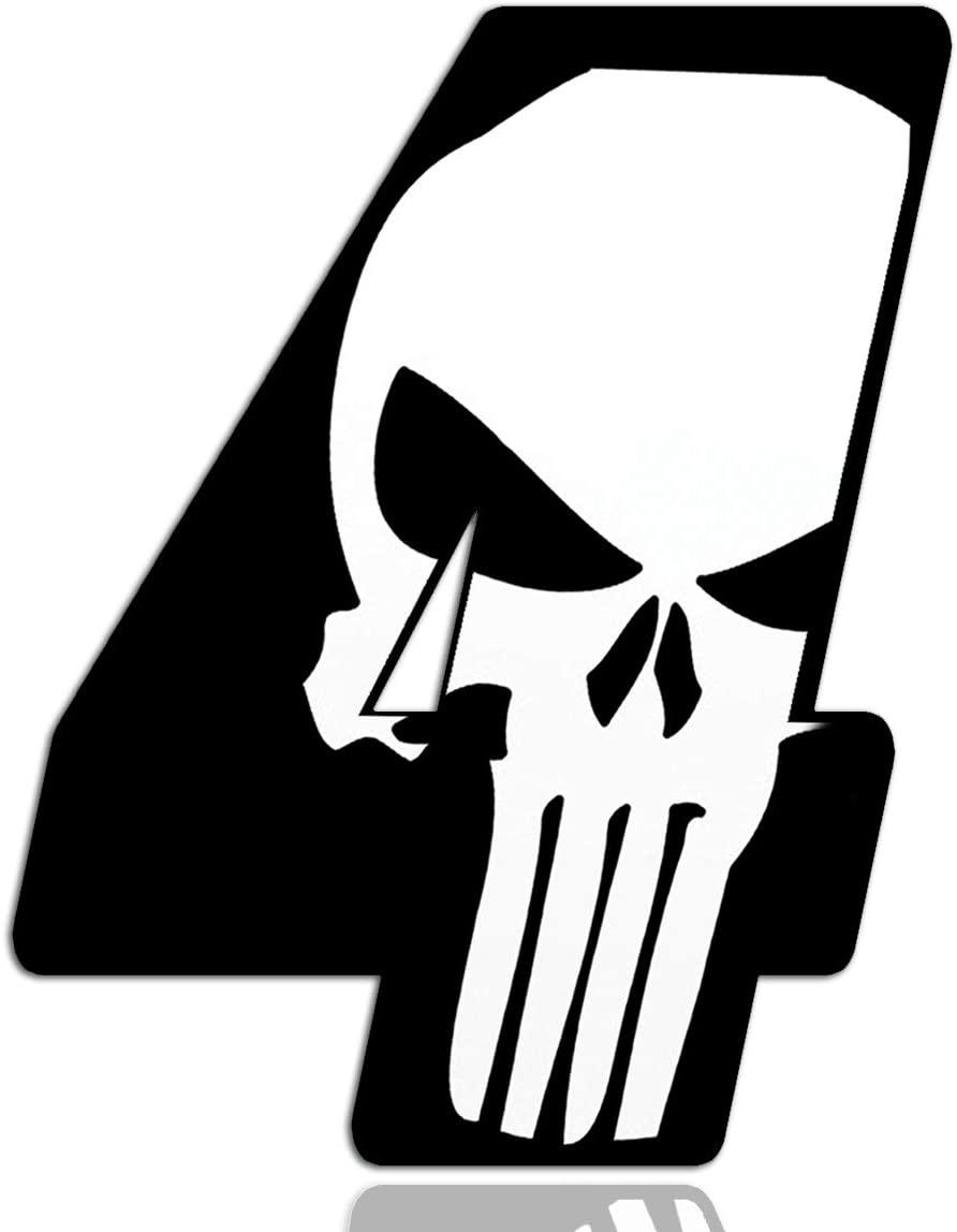 Racing Number № 0 Sticker Decal Punisher N 360