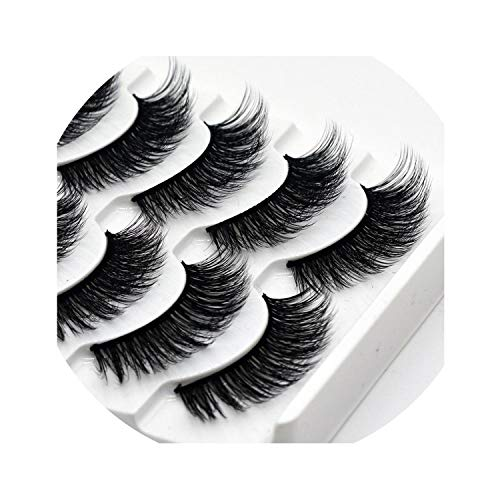 13 Styles 5Pairs Mink Hair False Eyelashes Natural/Thick Long Eye Lashes Wispy Makeup Beauty Extension Tools,17 -