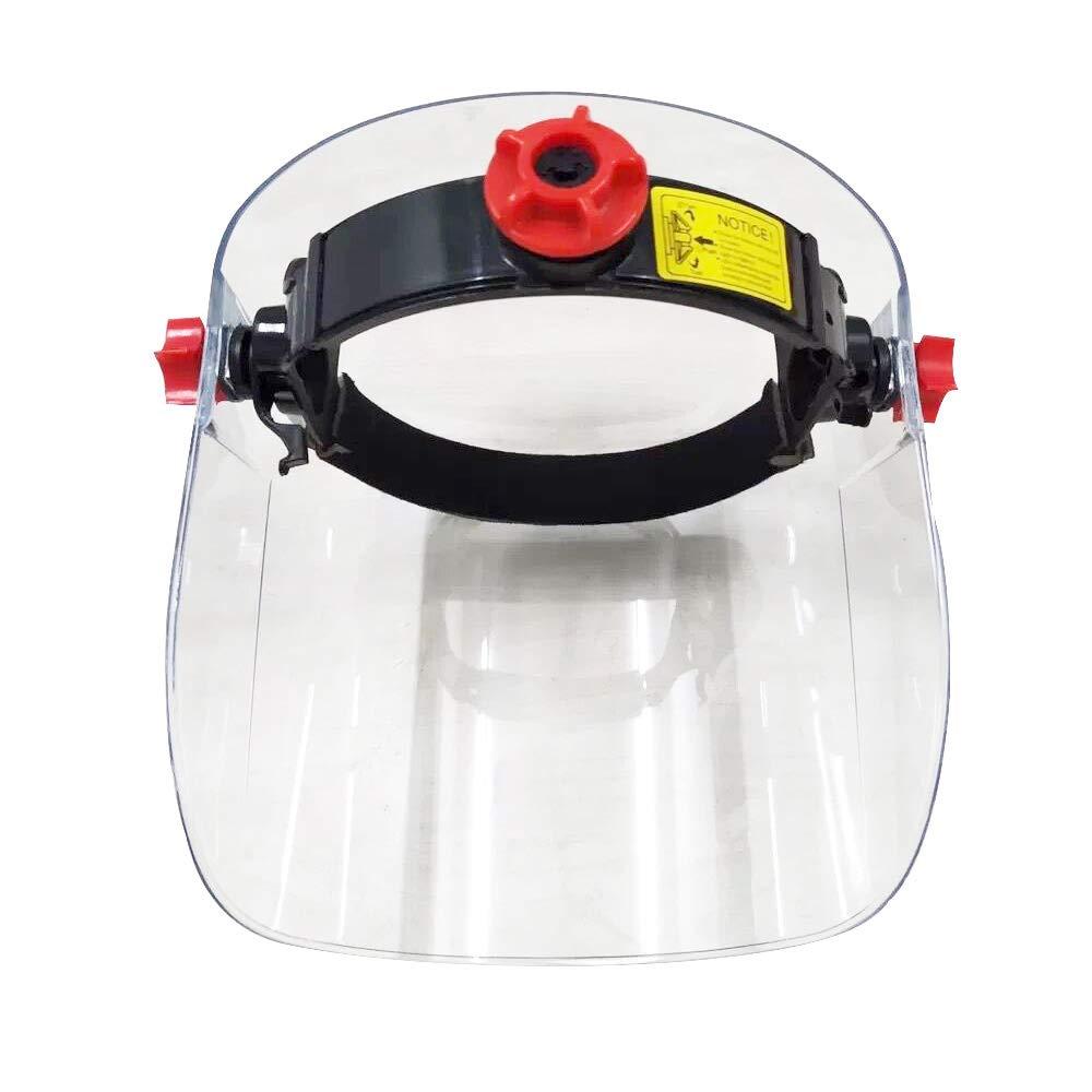 AHMI Bouclier de protection visage qualit/é sup/érieure Casques lunettes haute r/ésistance bandeau r/églable contre poussi/ère gouttelettes salive pour travail ou plein air.