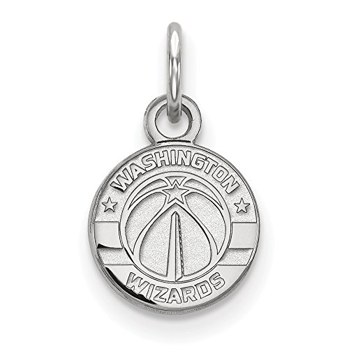 Roy Rose Jewelry 14K White Gold NBA LogoArt Washington Wizards X-small Pendant / Charm by Roy Rose Jewelry