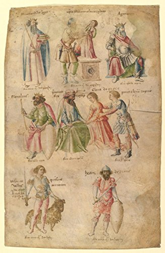 """Drawing """"Famous Men and Women from Classical and Biblical Antiquity"""" 