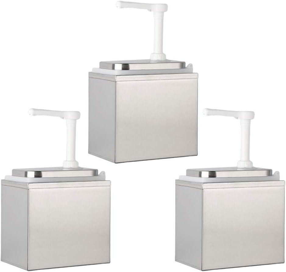 F Fityle キッチンディスペンサー キッチン用品 詰め替え容器用 調味料ボトル 3個入り 2L ソースポンプ