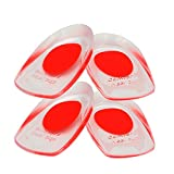 LOTGO Medical Grade Gel Heel Pad Silicone Cups Ankle Heel Pain Relief Cushion Shock Absorb Support (2 Pairs Pink)