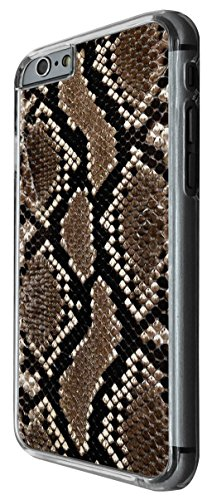 1108 - Cool Fun Snake Skin Pattern Design For iphone 6 Plus / iphone 6 Plus S 5.5'' Fashion Trend CASE Back COVER Plastic&Thin Metal -Clear