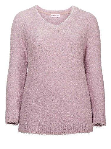 sheego Casual Jersey de punto tallas grandes Mujer rosa palo
