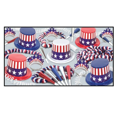 Beistle Spirit Of America Party Favors for 25 People, Assorted