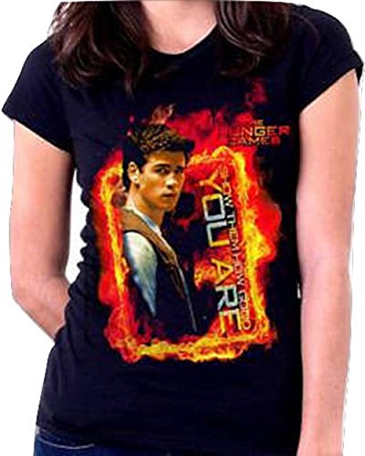 The Hunger Games Gale Show Them How Black Junior/Womens T-Shirt New Regular; Black; X-Large