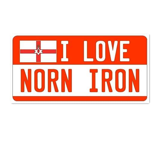 Hunnry I Love Norn - Cartel de Hierro para Colgar en la ...