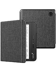 Fintie SlimShell hoes voor Kobo Libra H2O 7-inch eReader - Lichtgewicht Beschermend Cover met Automatische Slaap/Wek Functie, Charcoal Fabric