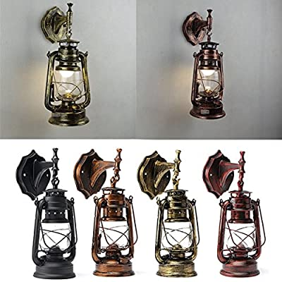 Retro Antique Vintage Exterior Lantern Wall Lamp Bar Cafe Sconce Lighting Fixture (Random: Color)