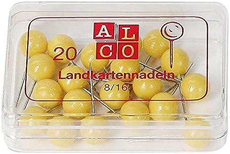 0,03€//Stück Alco Landkartennadeln 5 mm bordeauxrot 100 Stück