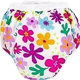 Kushies Potty Training Pants - Small - Flowers White