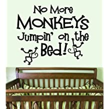 "NO MORE MONKEYS JUMPIN' ON THE BED #1: WALL DECAL, 13"" X 15"""