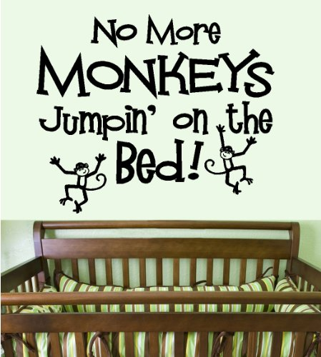 BestPricedDecals NO MORE MONKEYS JUMPIN' ON THE BED #1: WALL DECAL, 13