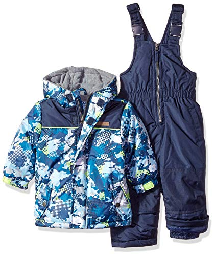 Wippette Baby Boys and Toddler Insulated Snowsuit, Camouflage Navy, - Bib Black Cat Baby