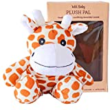 WILD BABY Microwavable Plush Pal - Cozy Heatable Weighted Stuffed Animal with Aromatherapy Lavender Scent, 10' Giraffe