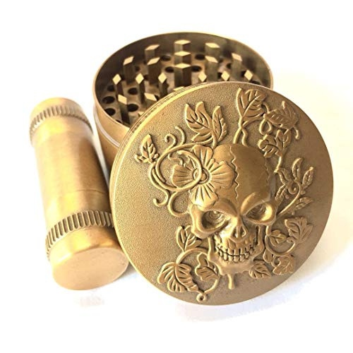 KW Collection Zinc Alloy Spice Grinder Antique Golden 2