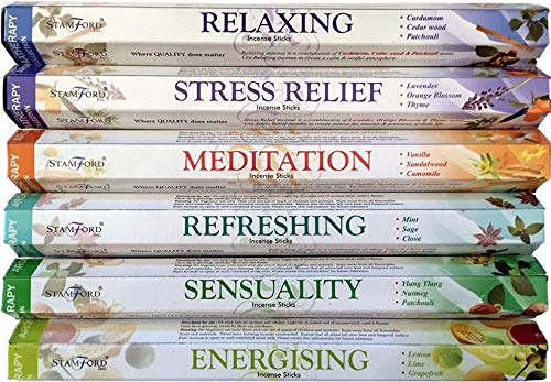 STAMFORD INC. 37322 Premium Aromatherapy Hex Range Incense Sticks -...