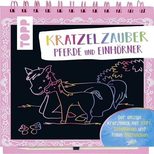 Schablonen und tollen Bastelideen Kratzelzauber f/ür Jungs Der einzige Kratzblock mit Stift